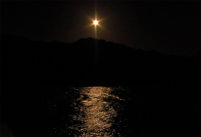 Travel Photo England Devon Ilfracombe by David J Rodger  - A Mythos Moon on Dark Waters
