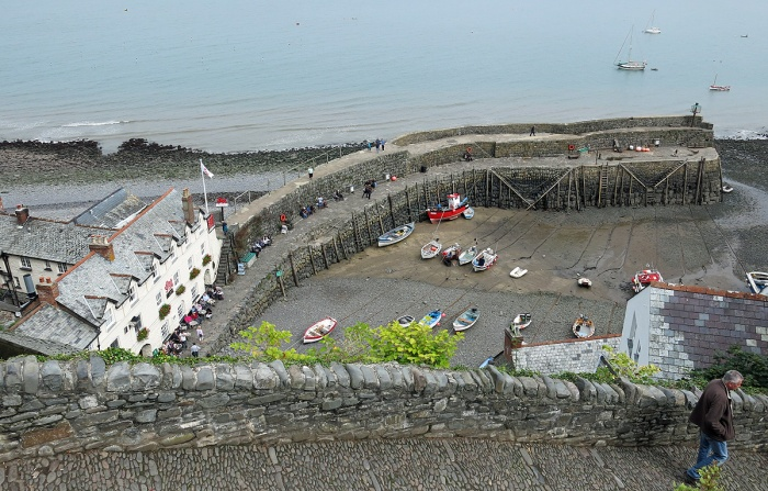 Travel Photo England Devon Ilfracombe by David J Rodger - Clovelly harbour