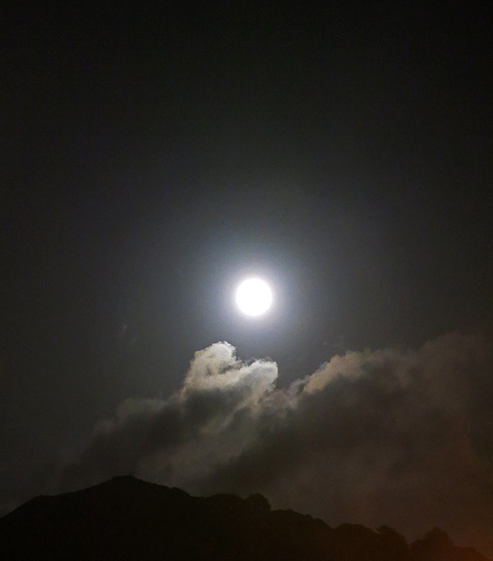 Travel Photo England Devon Ilfracombe by David J Rodger - Full Moon and Ghostly Clouds