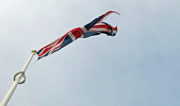 Travel Photo England Devon Ilfracombe by David J Rodger - Union Jack flag flapping in the wind