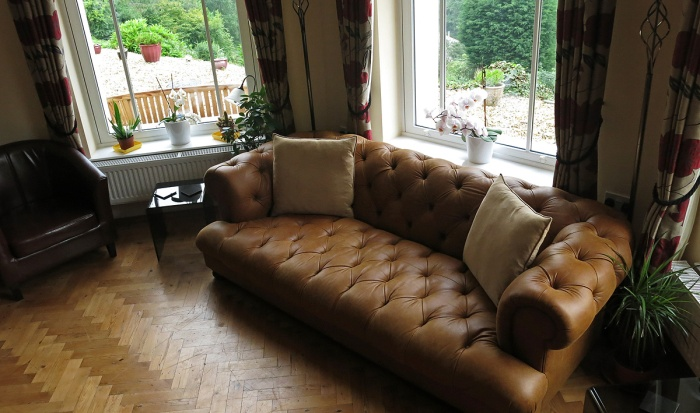 Travel Photo England Devon Ilfracombe by David J Rodger Wildercombe House  - the lounge perfect for a Murder Mystery