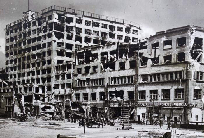 Berlin - Europahaus on Stresemannstraße 1945 after world war II