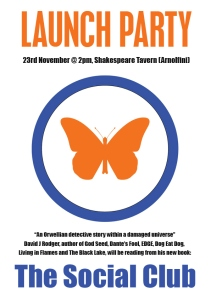 Launch party for new novel by David J Rodger is on 23rd November 2013 in Bristol England