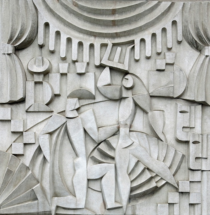 Travel photo Beautiful piece of Art Deco woven into the fabric of a building in Mitte - Berlin