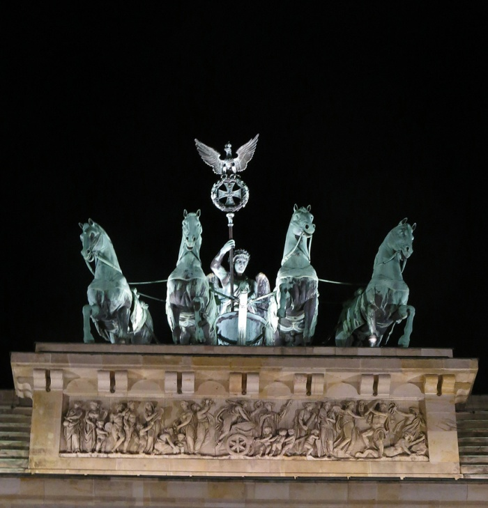 Travel photo Berlin - Brandenburg Gate  - close up of The Quadriga
