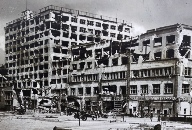 Berlin - Europahaus on Stresemannstraße 1945 after world war II