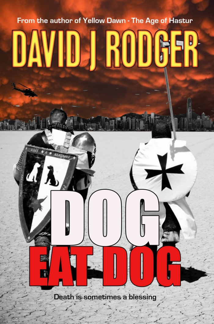 Dog Eat Dog is a post-apocalyptic crime thriller set in the shared universe of David J Rodger after the event called Yellow Dawn