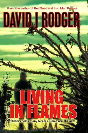 Living in Flames a science fiction dark fantasy novel set in Bristol expanding the cosmic horror of the Cthulhu Mythos by David J Rodger