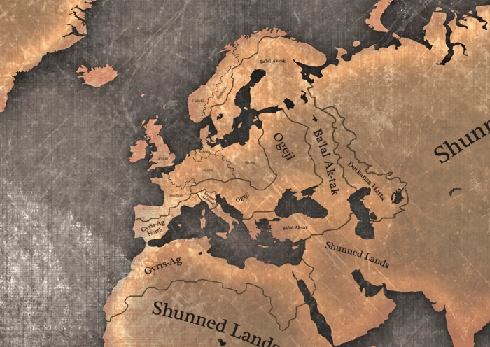 Dragomir - Dominion of Korbel - Dark Fantasy Meets Cthulhu Mythos - a world map source  PSD Graphic