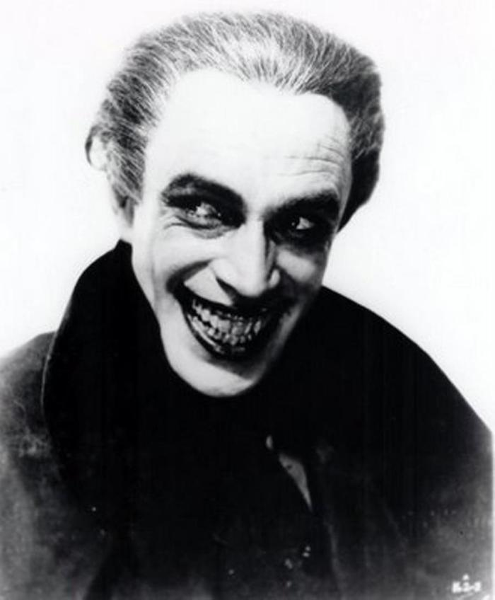 Conrad Veidt as Gwynplaine  Lord Clancharlie  in The Man Who Laughs - inspiration for Batman's The Joker