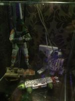 HIAB_X converts a garden shed into creative batchelor pad or Man Cave - boba fett Space 1999 Eagle