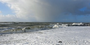 Stormy seas at Hayling Island