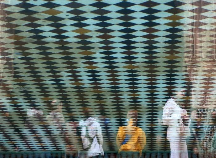 Morocco Marrakech Ben Youssef Medersa interesting optical effect