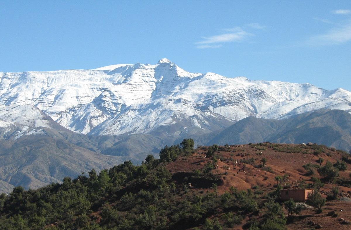 Morocco Snow Capped Atlas Mountains