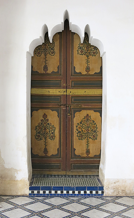 Bahia Palace Marrakech Morocco - doorway blending  Moroccan and Islamic design concepts