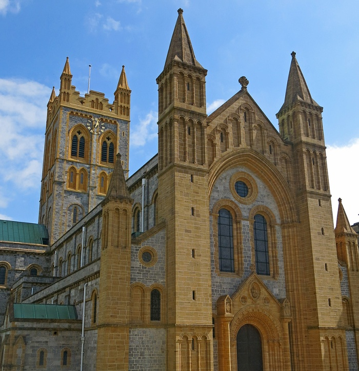 Buckfast Abbey - consecrated in 1932 completed until 1938 built on site of Gothic Mansion