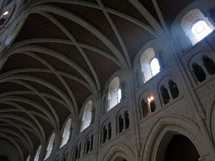 Buckfast Abbey - vaulted ceiling of the nave