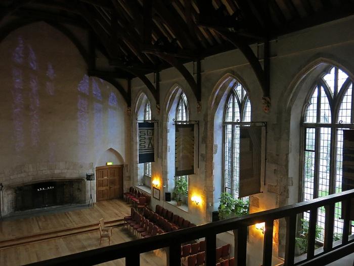 Dartington Hall - inside the great hall