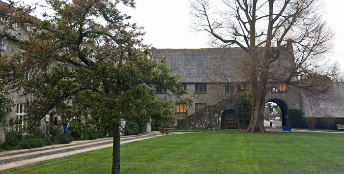 Dartington Hall - looking down the west wing towards gate house