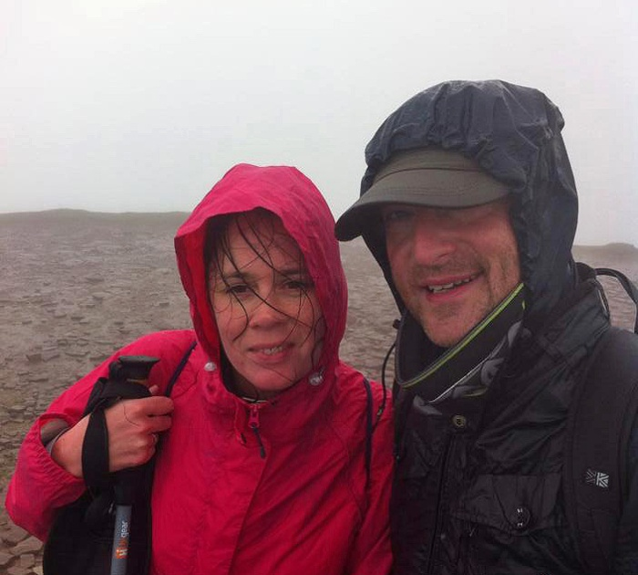 DJR and friend on summit of Pen Y Fan - Wales