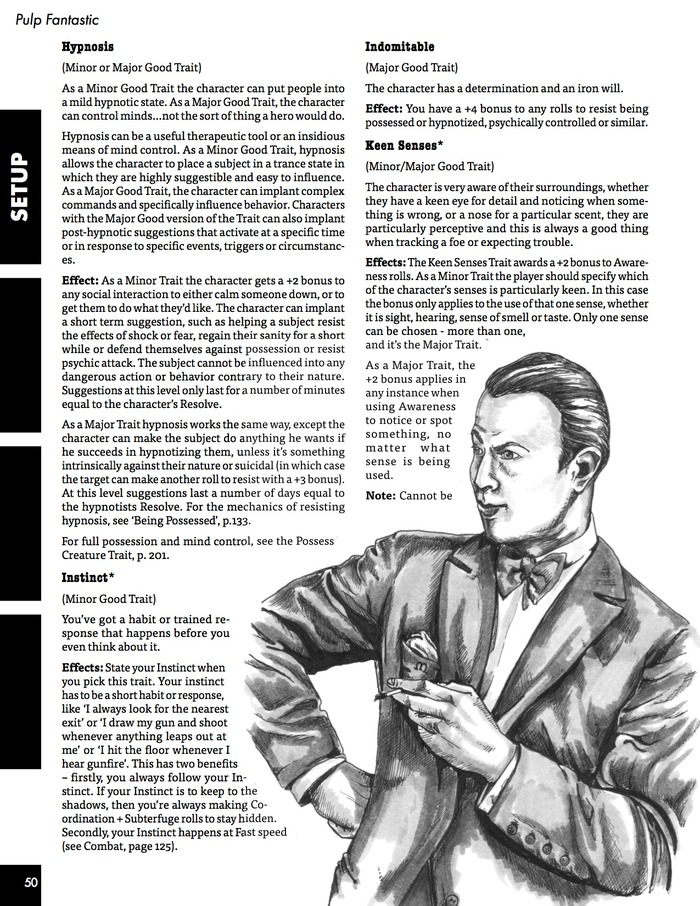 example rules from Pulp Fantastic RPG by Chris Halliday Step back into the 1930s where secret societies battle for control of history