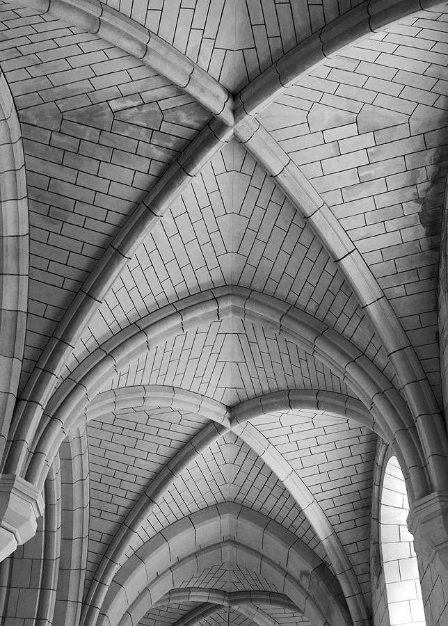 Interior Buckfast Abbey - vaulted ceiling