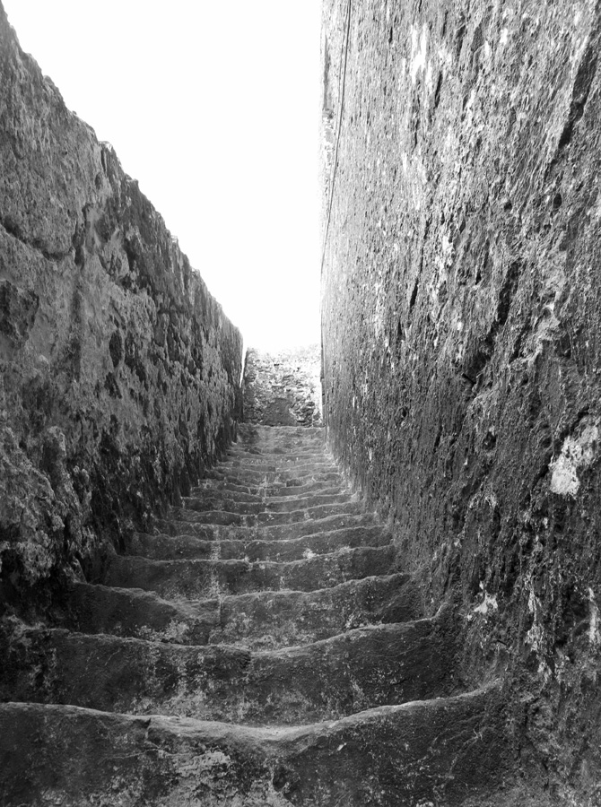 Morocco - Essaouira - medieval steps in old Medina - up or down