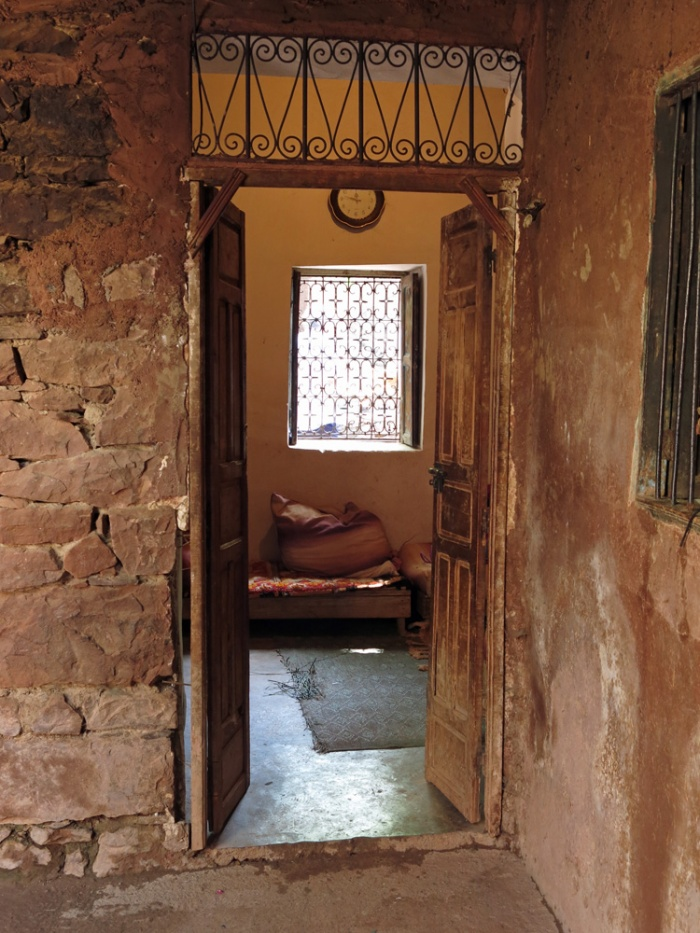 Morocco - foothills of Atlas mountains - Doorway of a traditional berber home