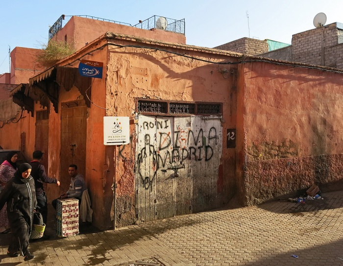 Morocco - Marrakech - backstreets of the city - graffiti roni dima madrid
