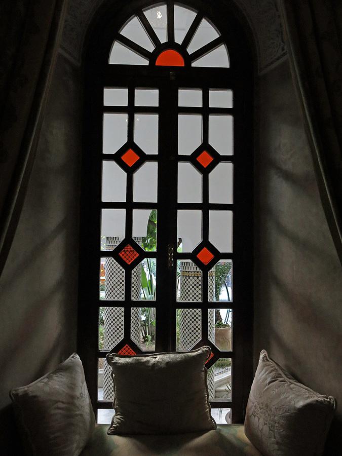 Morocco -Marrakech Riad -Palais Donab Dar El Bacha - stained glass window