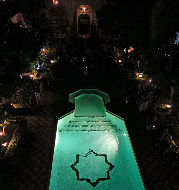 Travel Photo Morocco -Marrakech Riad -Palais Donab Dar El Bacha - Dining under the stars by the pool