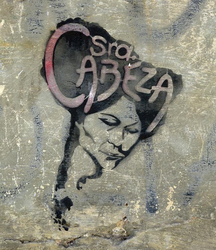 street art graffiti - Salamanca Spain -  Cabesa