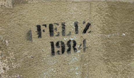 street art graffiti - Salamanca Spain - Feliz 1984