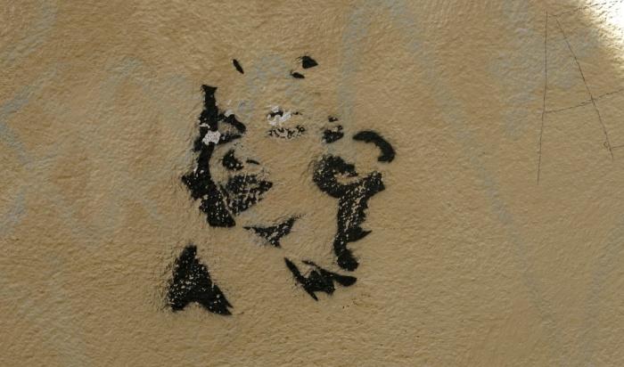street art graffiti - Salamanca Spain -  Monroe