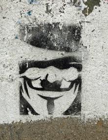 street art graffiti - Salamanca Spain - V for Vendetta