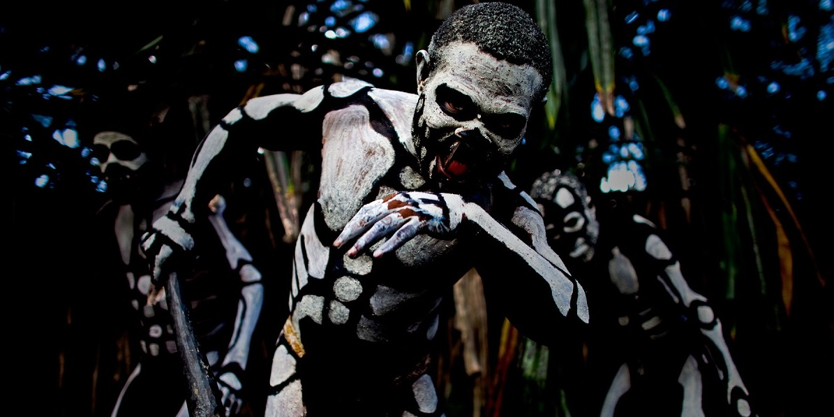 The Chimbu Tribe of Papua New Guinea image used to demonstrate The Carn cultists who worship new Great Old One Arcanathoa Photo by Brent Stirton/Reportage by Getty Images.