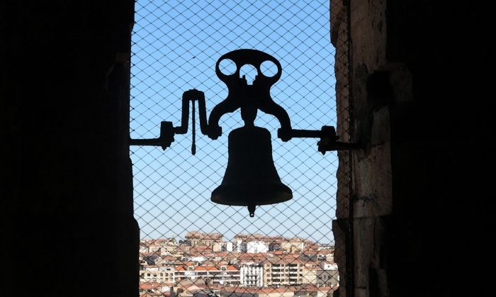 Travel photo Salamanca small bell in tower of Old Cathedral