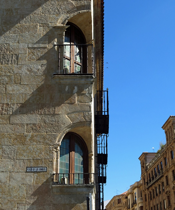 Travel photo Salamanca Unusual and distinctive window casements for this city