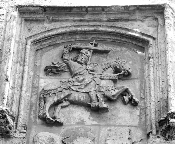 Travel photo - Valladolid Spain - medieval details adorn the walls