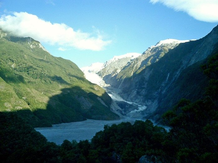 Franz Joseph glacier Southern Alps New Zealand