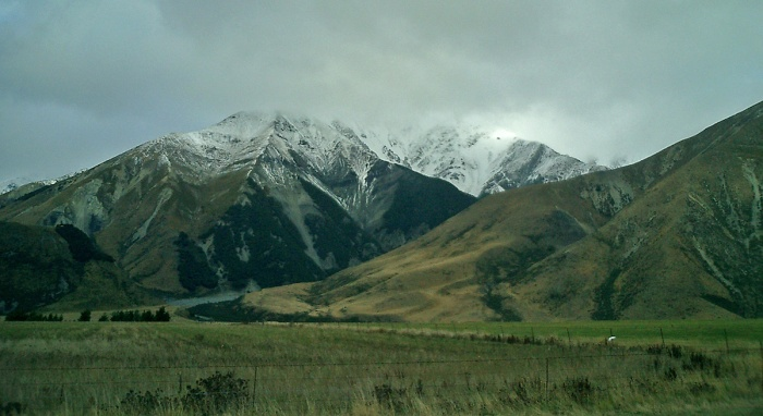 New Zealand approaching Arthurs Pass - Southern Alps
