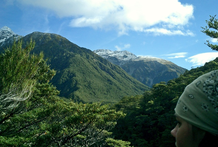 View from Devil's Punchbowl - Arthurs Pass - Southern Alps New Zealand - Oj