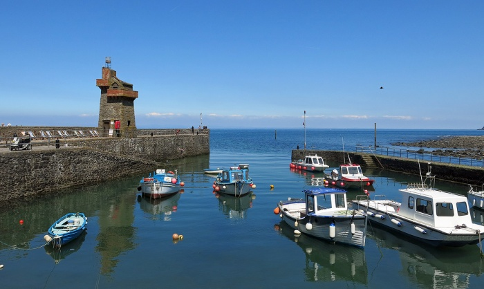 Lynmouth Harbour - great fish and chips here