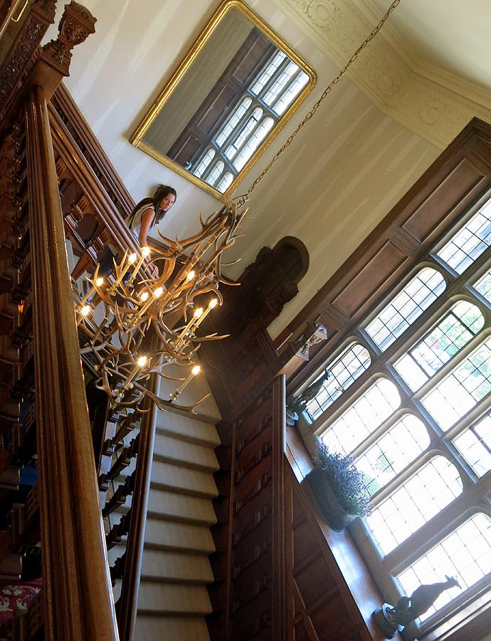 Bovey Castle - main staircase Jacobean style