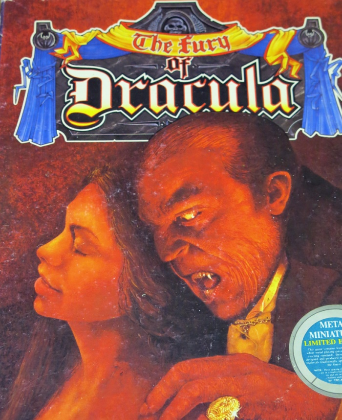 Box cover of The Fury of Dracula 1987