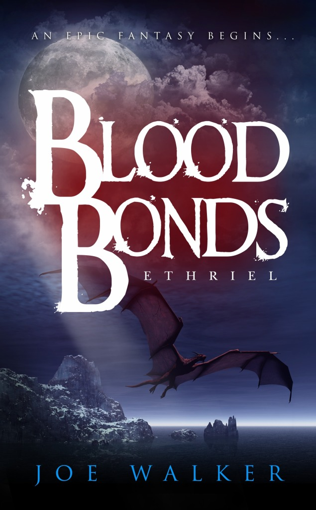 Cover of Ethriel Blood Bonds (Thundous Book 1) Fantasy Fiction by Joe Walker