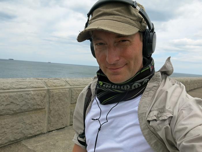 David J Rodger on Tynemouth Pier 2014