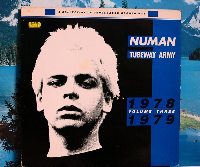 Rare Gary Numan Collection of unreleased recordings 1978 1979 volume 3 - front cover - blue vinyl photo David J Rodger (please credit)