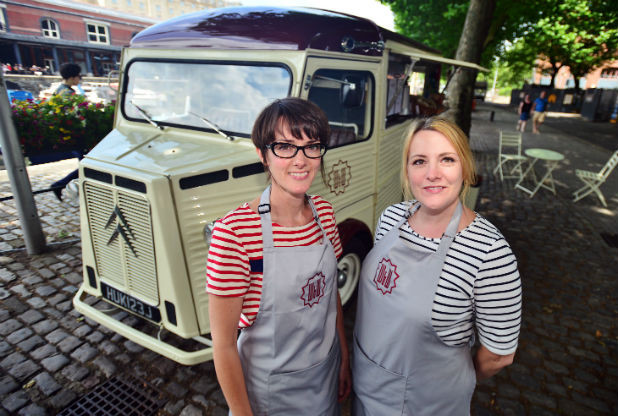 Sarah Ward and Tina Williams team behind mobile cafe on vintage wheels image Bristol Post All Rights Reserved