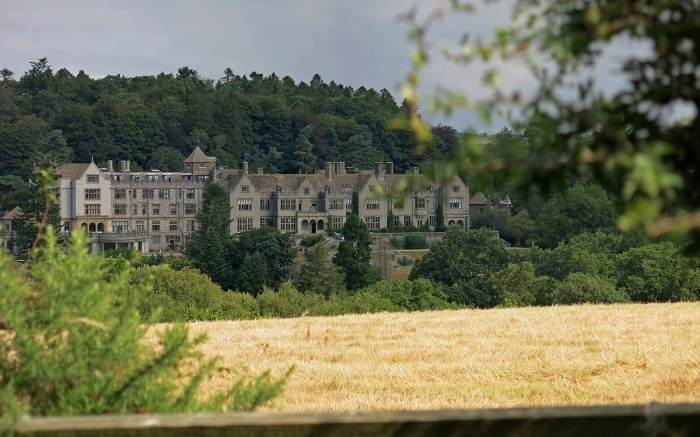 View of Bovey Castle from the Moors